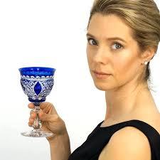 cobalt blue drink glasses val st water goblets stemware at l cobalt blue water glasses
