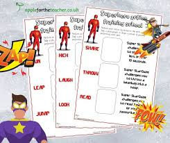 Verb Action Superhero Action Verbs Training School Apple For The