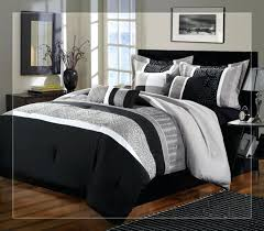 black and white bed in a bag queen black comforter sets medium size of luxury bedding black and white comforter black comforter mainstays tribal