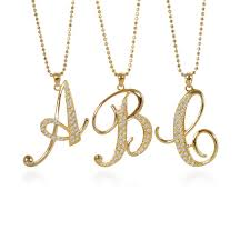 excellent letter pendant necklace gold initial awwake me 1 australium silver white philippine canada tiffany nz