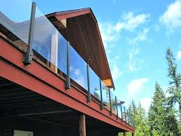 glass deck railing system glass rail 2 glass deck railing systems seattle