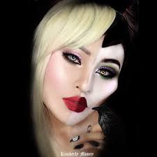 two in one villains and disney princess makeup aurora and maleficent