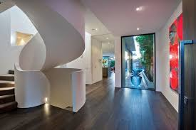 fantastic modern house lighting. Amazing Curved Stairs, White \u0026 Bright Like The Rest Of House . Fantastic Modern Lighting H