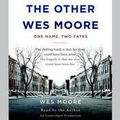 the work audiobook by wes moore for just  the other wes moore one two fates audiobook
