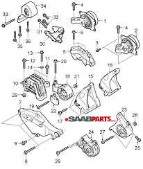 12759477 saab engine mount lh hydro bushing manual diagram image 1