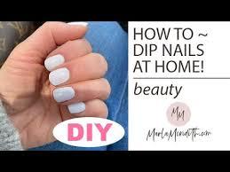 dip nails at home you