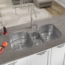 the most mrdirect stainless steel 43 x 21 triple basin undermount kitchen intended for triple sink kitchen plan