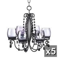 5 black crystal chandelier candelabra candle holder wedding table centerpieces