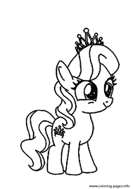 Small Picture A Diamond Tiara my little pony Coloring pages Printable