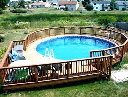 building a deck around an above ground pool decks also cost to install designs in framing above ground pools