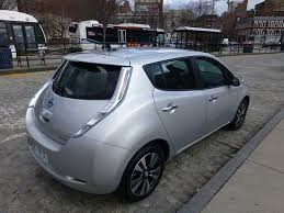 turning over the all new 2013 nissan leaf plugincars com nissan leaf at chelsea piers