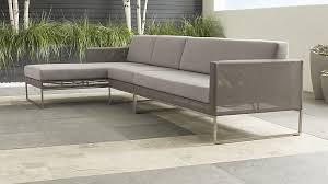 dune outdoor furniture. Dune Outdoor 3-Piece Sofa In Lounge Furniture + Reviews | Crate And Barrel R