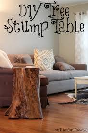 DIY tree stump table 2