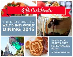 walt disney world dining 2016 2016 book er dfb guide gift certificate