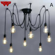chandelier with edison bulb retro light vintage loft antique adjustable art spider ceiling lamp fixture nautical pendant lights drum edis