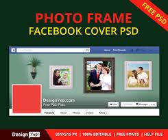 free photo frame facebook timeline cover psd