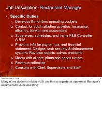 Catering Manager Job Description Cool Cha48 FB Organization