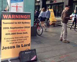 30,31.01.2018/mega tsunami in australia,or has already come the apocalypse and the end of the world. Sad Day For Doomsday Australian Skeptics Inc