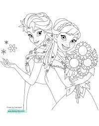 Frozen Fever Coloring Pages To Printl L
