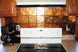 Tin Backsplashes For Kitchens Kitchen Copper Backsplash Phidesignus