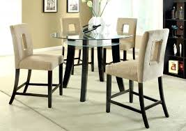 round counter height dining table room ideas square glass top