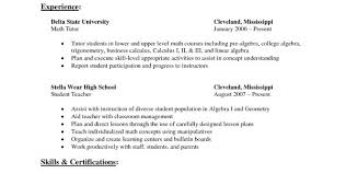Math Tutor Resume Sample Math Tutor Resume Samples Uaceco Wordpad