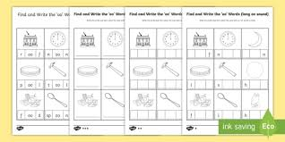 These worksheets help kids learn to use letters to make sounds and words. Write The Long Oo Sound Words Differentiated Activity Pack Write The Long