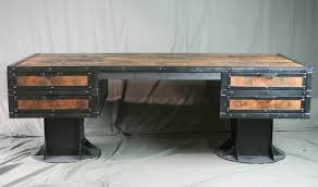 rustic industrial desk with reclaimed wood 3 1 of 1