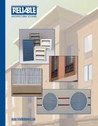 Reliable Louvers Color Chart Reliable Architectural Louvers Grilles Literature