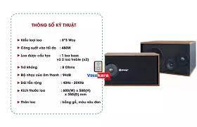 Loa karaoke Arirang 301 CS300W 3 đường tiếng, âm thanh chuẩn, công suất  480W, tặng kèm 10 mét dây