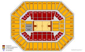 Iowa State Basketball Arena Seating Chart Tickets Isu Cyclones Womens Basketball V Southern Ames