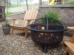 image of portable outdoor fireplace wood burning idea