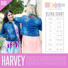Check Out This Size Chart For Lularoe Harvey If You Need
