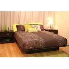 Queen size Platform Bed Frame in Dark Brown Chocolate Wood Finish ...
