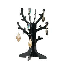 earring tree stand ring wooden