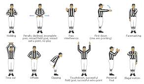 High School Football Referee Signals Chart Omg Im Going To Learn The Language Of Football Referee