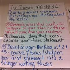 thesis statements my anchor charts school english thesis statement writing