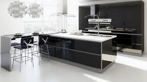 Kitchen  Modern Kitchen Breakfast Bar With L Shaped Design - Modern kitchens