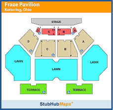 Fraze Pavilion Detailed Seating Chart 2 Tickets Southern Uprising Travis Tritt Charlie Daniels