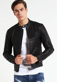 jack jones jororiginal faux leather jacket black men jack jones shirts new york