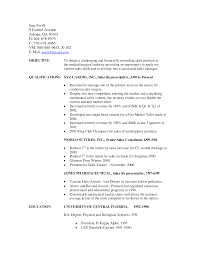 Sample Resume For Sales Representative Position Resume For Your