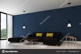 Blauwe Muur Woonkamer Ligbank Woonkamer Bestemd Blauwe Muur