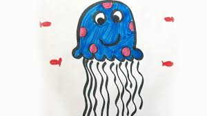jellyfish drawing for kids. Modren Drawing How To Draw And Color A Jellyfish For Kids On Drawing For Kids E