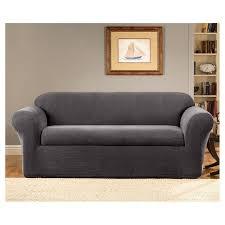 Image Waterproof Target Oxford Piece Sofa Slipcover Gray Sure Fit Target