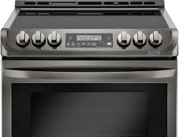 lg 6 3 cu ft self cleaning slide in electric range with probake convection printproof black stainless steel lse4613bd best