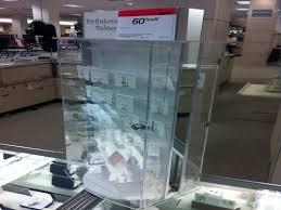 acrylic lockable rotating countertop display case