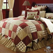 California king country quilt sets & Country Red Green Patchwork Twin Queen Cal King Quilt Bedding Set Adamdwight.com
