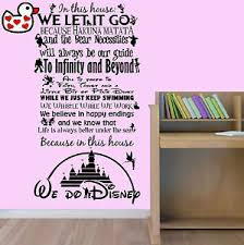 image is loading we do disney style quote in this house  on vinyl wall art uk with we do disney style quote in this house rules vinyl wall art sticker