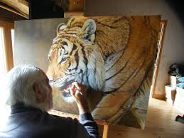 About Alan Hunt and Paintings | Hunting art, Wildlife paintings, Big cats  art