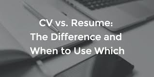Resume Cv What Is Cv Cv Vs Resume The Difference And When To Use Which